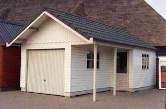 Houtbouw Garage Schuur : Houten garages houtbouw hiemstra twijzel