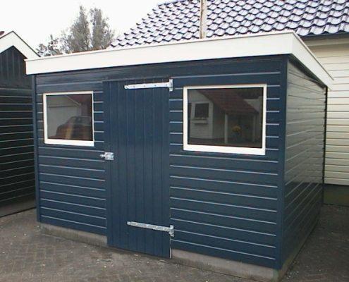 Blauw tuinhuisje