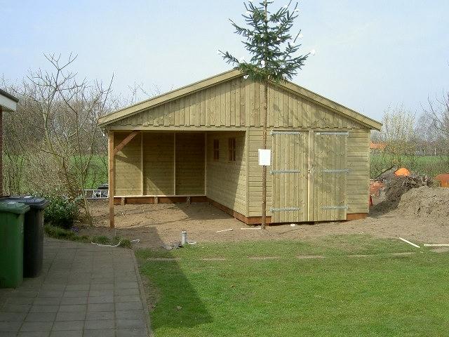 Garage Met Carport : Projecten: garage met carport houtbouw hiemstra twijzel