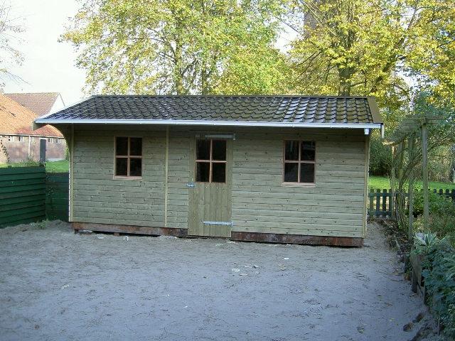 ... : Houten tuinhuisje HS-20 met Luifel - Houtbouw Hiemstra Twijzel