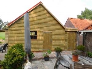 Garage Met Overkapping : Aanbouw garage met overkapping en berging houtbouw hiemstra twijzel